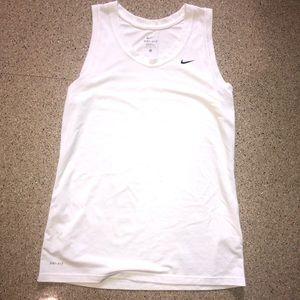 White NIKE Athletic Shirt